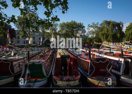 Canalway Calvalcade festival, Little Venice, London, England, United Kingdom - Stock Image
