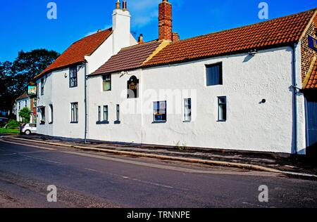 The Tuns Pub, Sadberge, Borough of Darlington, England - Stock Image