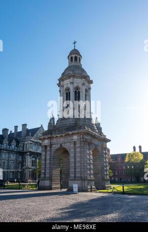 The Campanile - Trinity College in Dublin - Ireland - Stock Image
