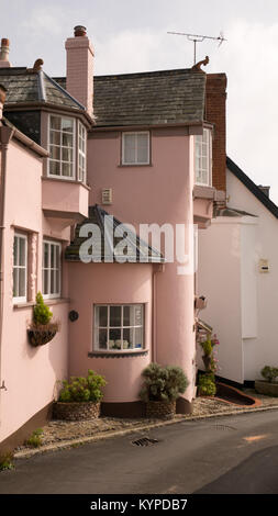 The distinctive buildings within the quaint historic town of Topsham, located three miles from Exeter, Topsham, - Stock Image