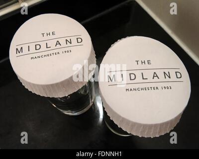 Glasses,Midland Hotel,Manchester,England,UK - Stock Image
