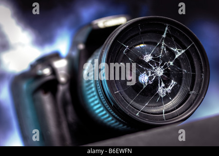 Broken camera - Stock Image