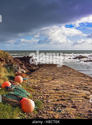 The Old Jetty at Wilhaven - Stock Image