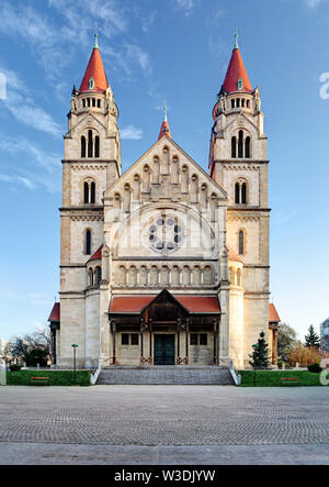 St. Francis of Assisi Church in Vienna, Austria. - Stock Image