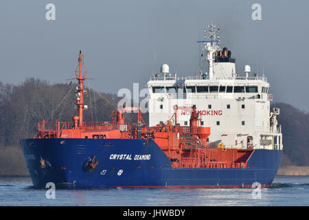 Tanker Crystal Diamond with new blue livery - Stock Image