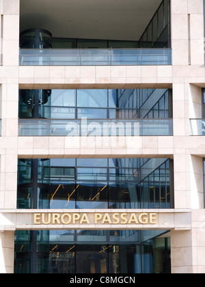 Europa Passage shopping center Hamburg - Stock Image