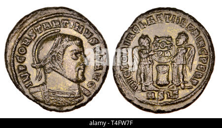 Bronze Roman coin: Constantine I (The 'Great' - AD 306-337) - Stock Image