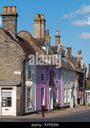 Typical Dutch Style Architecture found in East-Anglia, here in The picturesque Market Town of Bungay, Suffolk, England, - Stock Image
