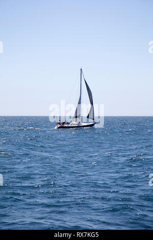 Sailing on Tabel Bay - Cape Town , South Africa - Stock Image