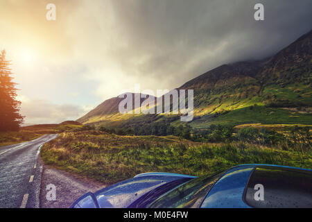 highlands road trip - Stock Image