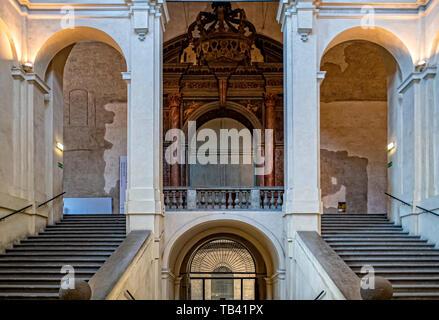 Italy Emilia Romagna Parma Museum Pole of the Pilotta - entrance of  Theater Farnese - Stock Image