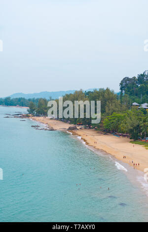 Beach, elevated view, Khao Lak, Thailand - Stock Image