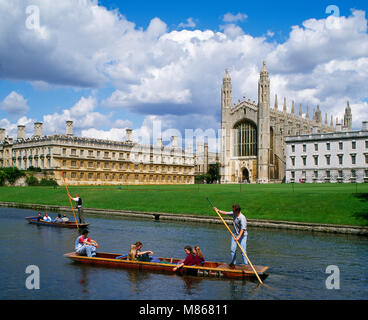 Kings College Cambridge Cambridgeshire England UK - Stock Image