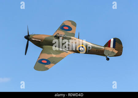 Hawker Hurricane RAF WW2 fighter - Stock Image