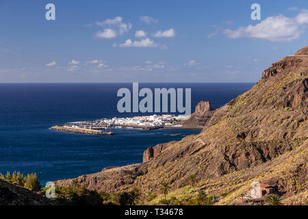 Puerto de las Nieves on the Atlantic coast of Gran Canaria, Canary islands - Stock Image