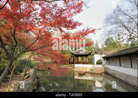 The Humble Administrator's Garden is a famous classical garden in Suzhou. It is the largest garden in Suzhou and is generally considered to be one of  - Stock Image