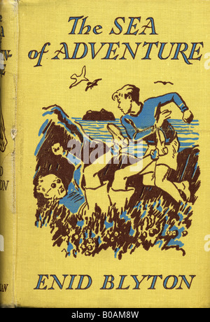 Enid Blyton Children's Novel The Sea of Adventure hardback book 1949 FOR EDITORIAL USE ONLY - Stock Image