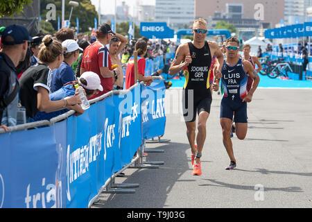 Yokohama, Japan. 18th May, 2019. 2019 ITU World Triathlon, World Paratriathlon Yokohama at Yamashita Park and Minato Mirai, Yokohama. Schomburg, Luis (Photos by Michael Steinebach/AFLO) Credit: Aflo Co. Ltd./Alamy Live News - Stock Image