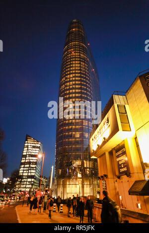 Doggets Coat & Badge Bar and 1 Blackriars road, Skyscraper building, Southwark, London, England, UK - Stock Image