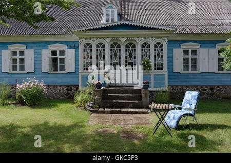 Captain Markson's mansion in village Kabli. Pärnu county. Estonia - Stock Image