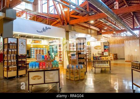 shelves pasta factory Pastificio di Martino Fico Eataly World - Stock Image
