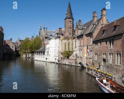 The Rozenhoedkaai Canal - Bruges, Belgium - Stock Image