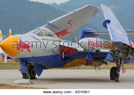 Zeltweg 2005 Airpower 05 airshow Austria Sea Vixen with wings folded - Stock Image