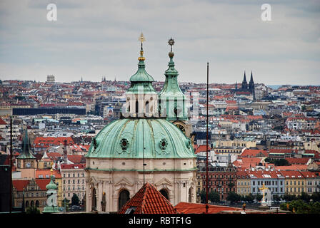 Vienna, Austria, Europe. Beautiful view of the skyline from the top of the vein. An iconic landmark and extremely popular European tourist destination - Stock Image