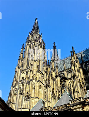 9082. St Vitus Cathedral, Prague,  Czech Republic, Europe - Stock Image