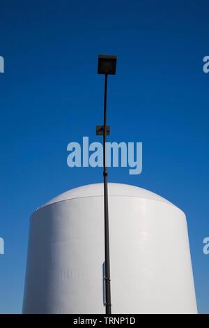 Natural Gas storage tank, - Stock Image