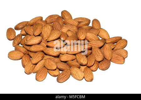 A mound of shelled almonds - Stock Image