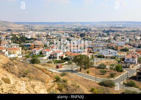Oroklini village, Larnaca, Cyprus October 2018 - Stock Image