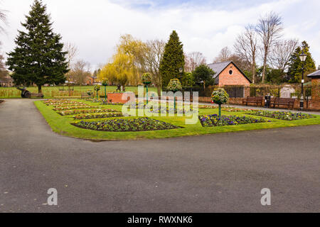 Cae Glas Park and gardens in Oswestry Shropshire - Stock Image