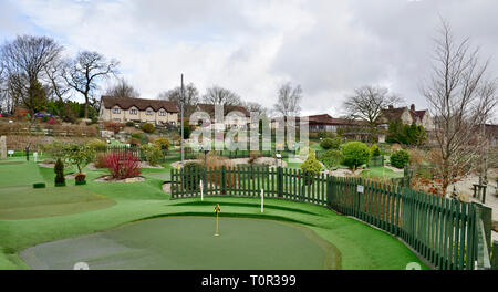 Manor House Hotel in Devan countryside near Okehampton with one of their two miniature golf activities - Stock Image
