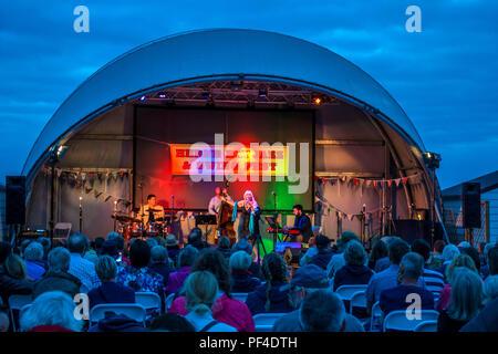 Jazz,and,Swing,Festival,The Pier,Herne Bay,Kent,Coast,England,UK - Stock Image