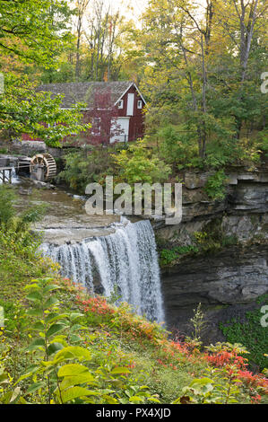 Historic Morningstar Mill at Decew Falls in St. Catharines, Ontario, Canada. - Stock Image