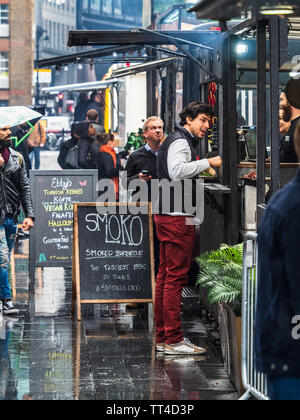 London Street Food - Spitalfields Market Street Food Market - London Street Food Market in the Spitalfields Market area. - Stock Image