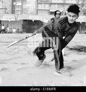 Cricket players - Stock Image