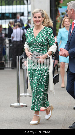 The Countess of Wessex arrives at the RHS Chelsea Flower Show at the Royal Hospital Chelsea, London. - Stock Image