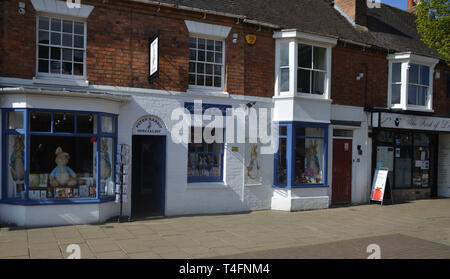 Shops on Henley Street in the Warwickshire town of Stratford upon Avon - Stock Image