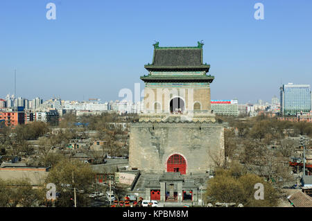 Beijing,China - Feb 8,2006:The Bell Tower in Beijing,China. - Stock Image