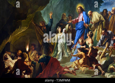 The Resurrection of Lazarus 1706, Jean JOUVENET 1644 – 1717, France, French, ( Gospel of Saint John: Christ, taken to the tomb of Lazarus, cries loudly, Lazarus, come forth, the dead man rises. ) - Stock Image