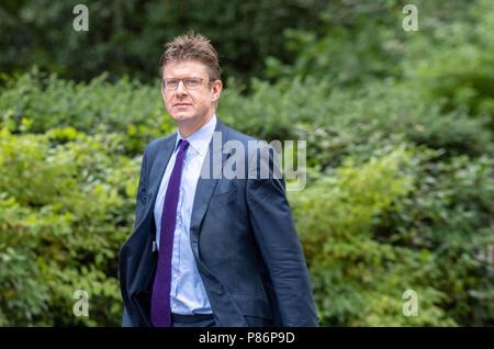 London 10th July 2018, , Greg Clark Business Secretary, arrives at Cabinet meeting at 10 Downing Street, London Credit Ian Davidson/Alamy Live News - Stock Image