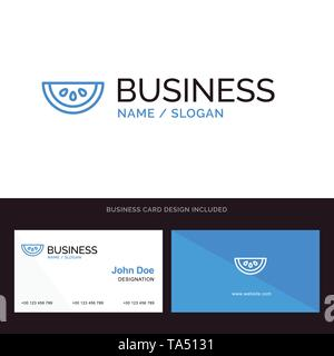Web Blue Business logo and Business Card Template. Front and Back Design - Stock Image