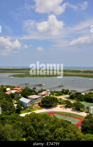 Aerial view of St. Augustine inlet, Florida, USA - Stock Image