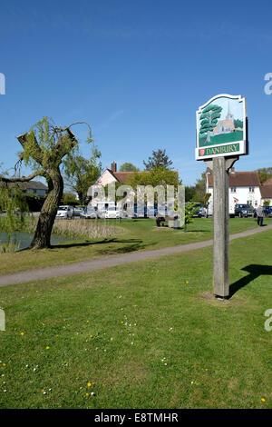 Danbury village sign - Stock Image