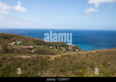 View across St Lucia, The Caribbean - Stock Image