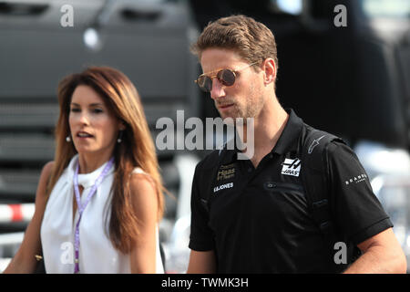 Marseille, France. 21st Jun 2019. FIA Formula 1 Grand Prix of France, practice sessions; Rich Energy Haas F1 Team, Romain Grosjean Credit: Action Plus Sports Images/Alamy Live News - Stock Image