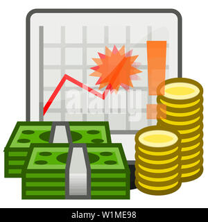 finance earnings savings money dollar coins  investment   currency illustration - Stock Image