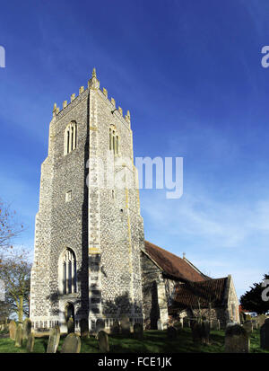 St John the Baptist Church, Reedham, Norfolk - Stock Image
